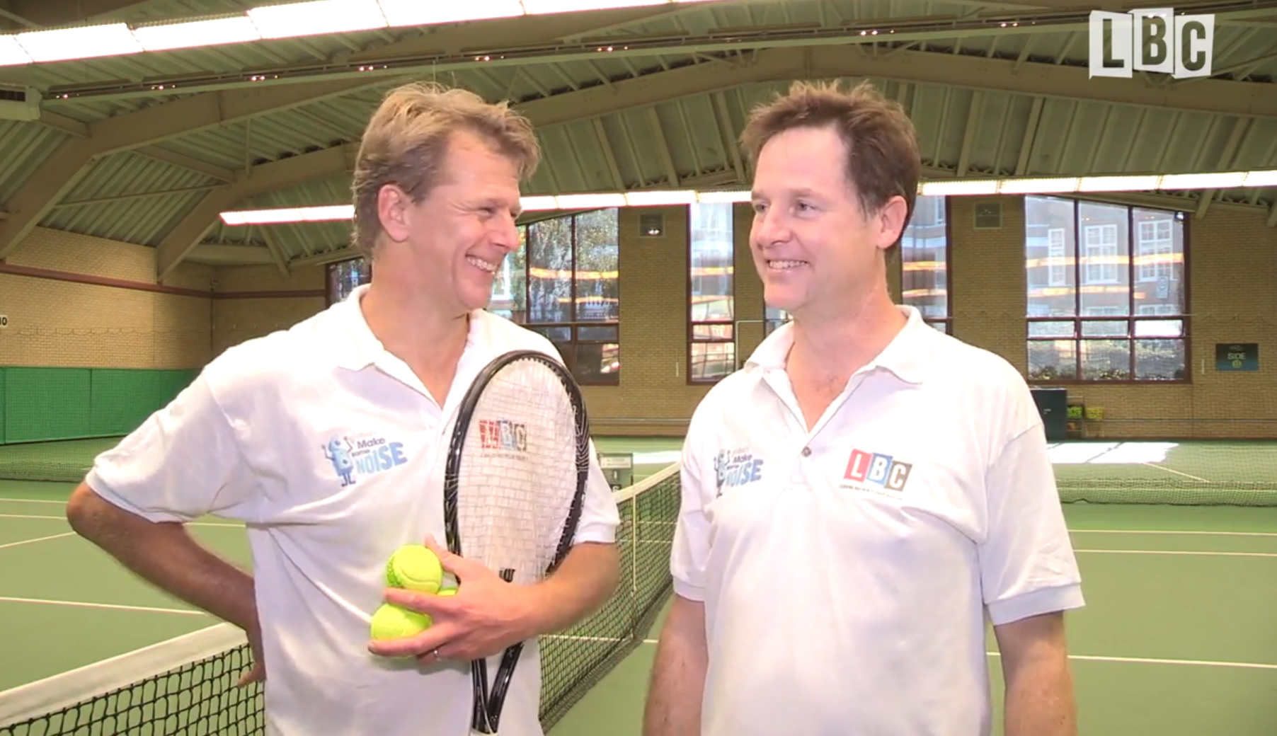 Nick Clegg Vs Andrew Castle: Watch Highlights Of The Charity Tennis Match Here!