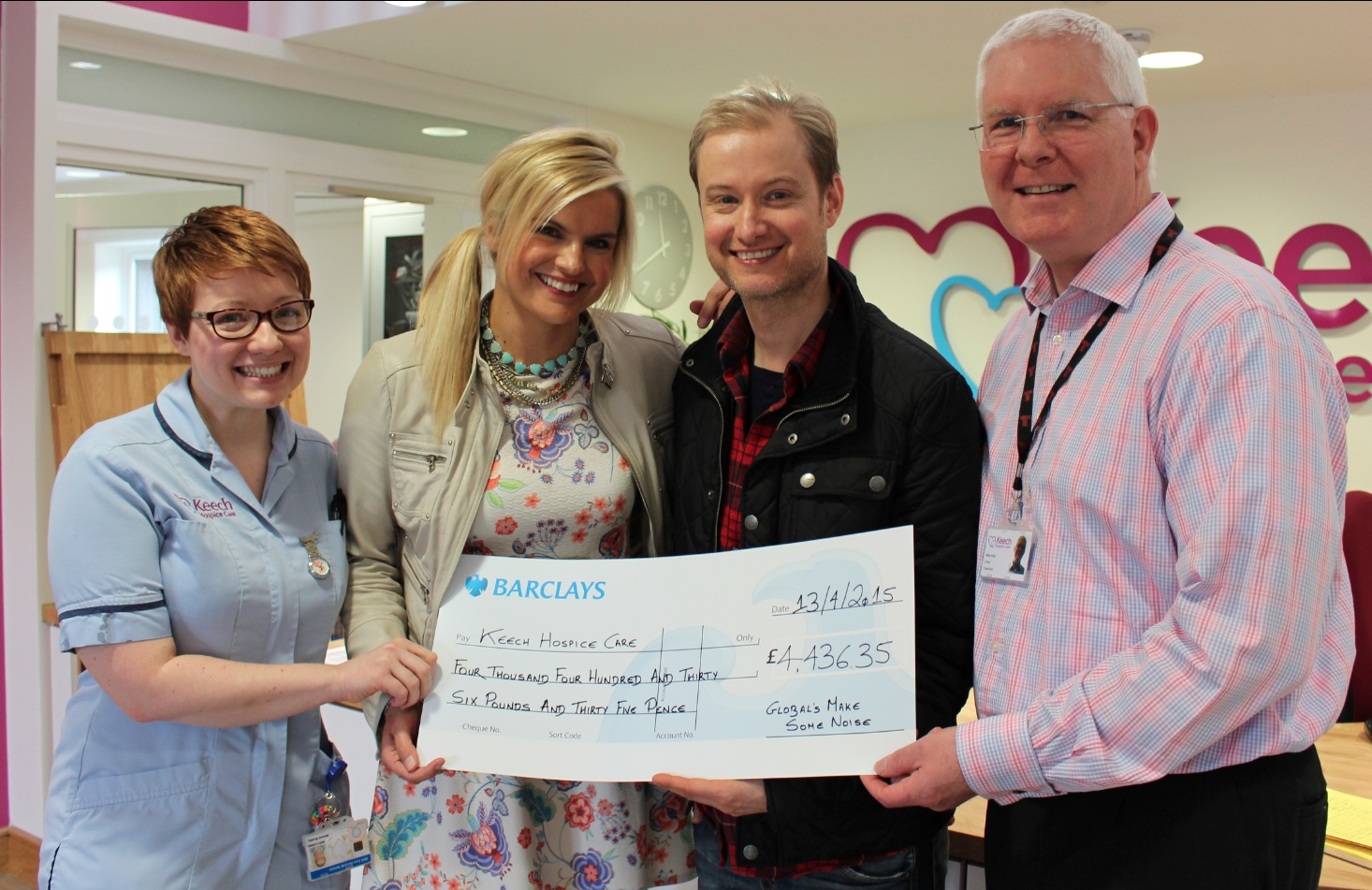 Heart Four Counties' Stuart & Katy visit local beneficiary