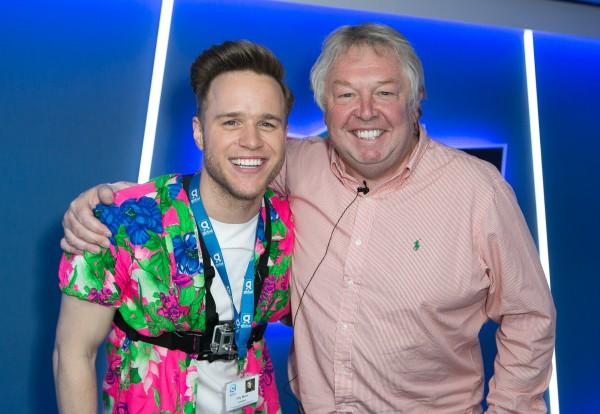 Olly Murs (left) and LBC radio presenter Nick Ferrari attending Global's Make Some Noise Charity Day at Global Radio station in Leicester Square, London.