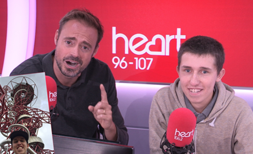 WATCH: Jamie Theakston abseiled off The Orbit thanks to YOU!