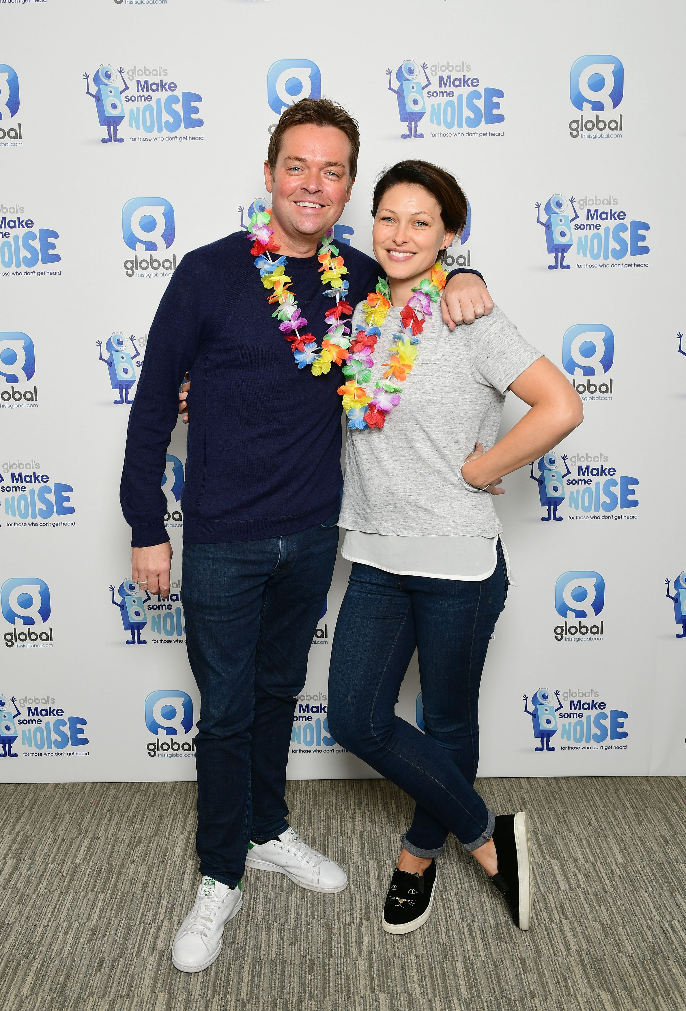 Stephen Mulhern and Emma Willis supporting Global's Make Some Noise Day – the charity set up by Global, the media and entertainment group, to help disadvantaged youngsters across the UK, held at Global Radio, London.