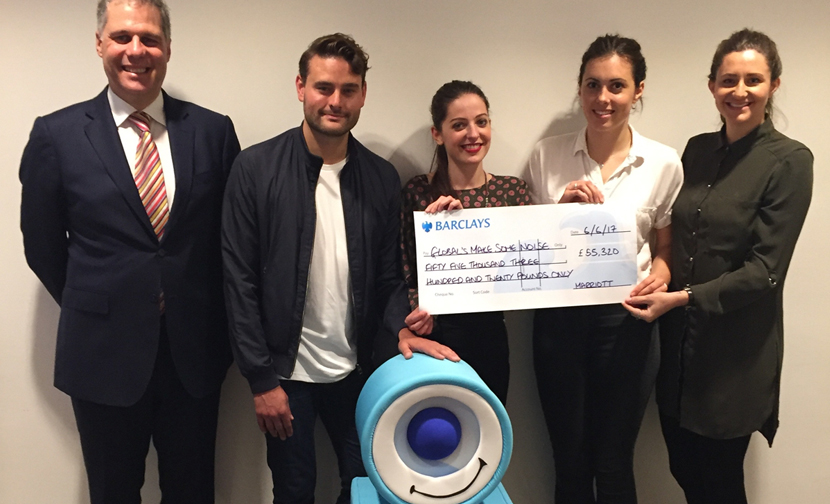 Marriott Hotels raise an incredible £55,320 for Make Some Noise