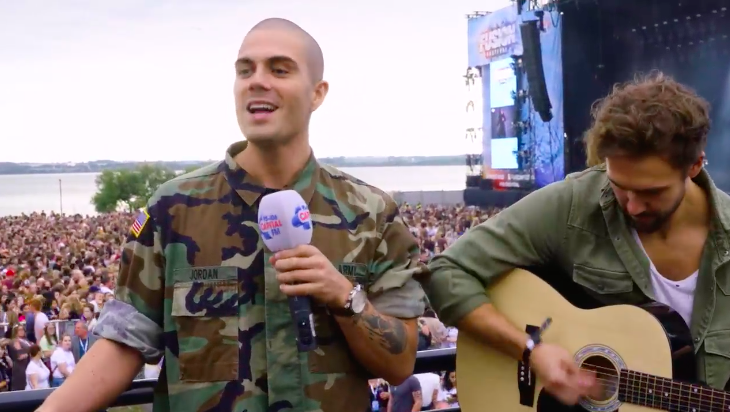 WATCH: Max George goes busking for Make Some Noise