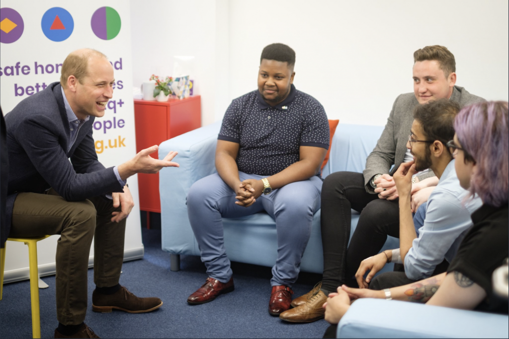 The Duke of Cambridge visits small charity akt