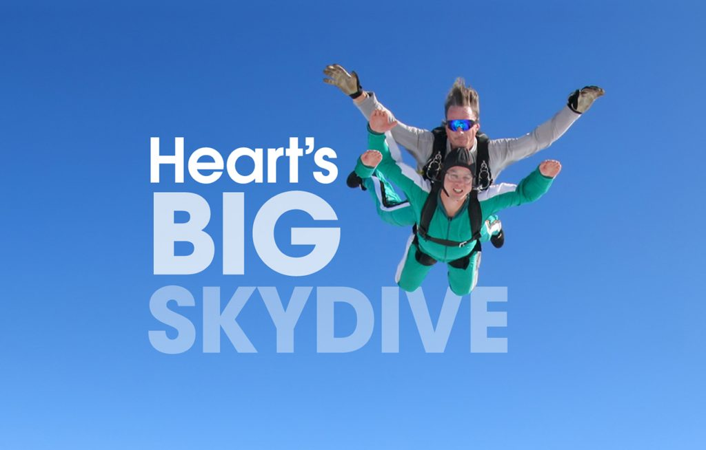 Take on Heart's Big Skydive