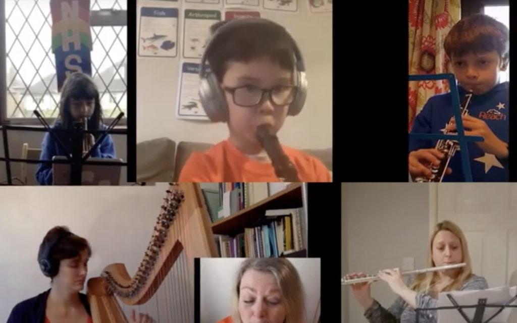 'Reach for the Stars' performed by virtual orchestra for charity