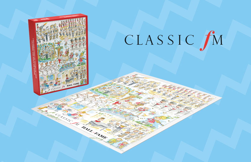 Limited edition jigsaw puzzle of the Classic FM Hall of Fame