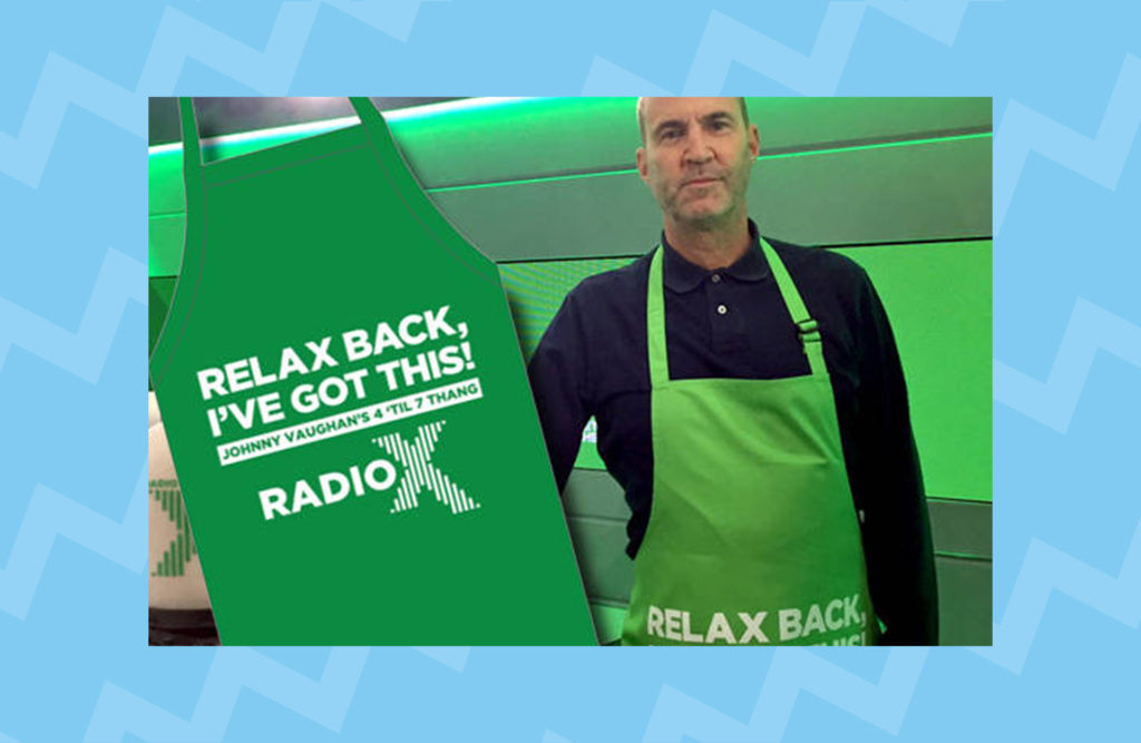 Get your hands on a Johnny Vaughan 4 Til 7 Thang apron