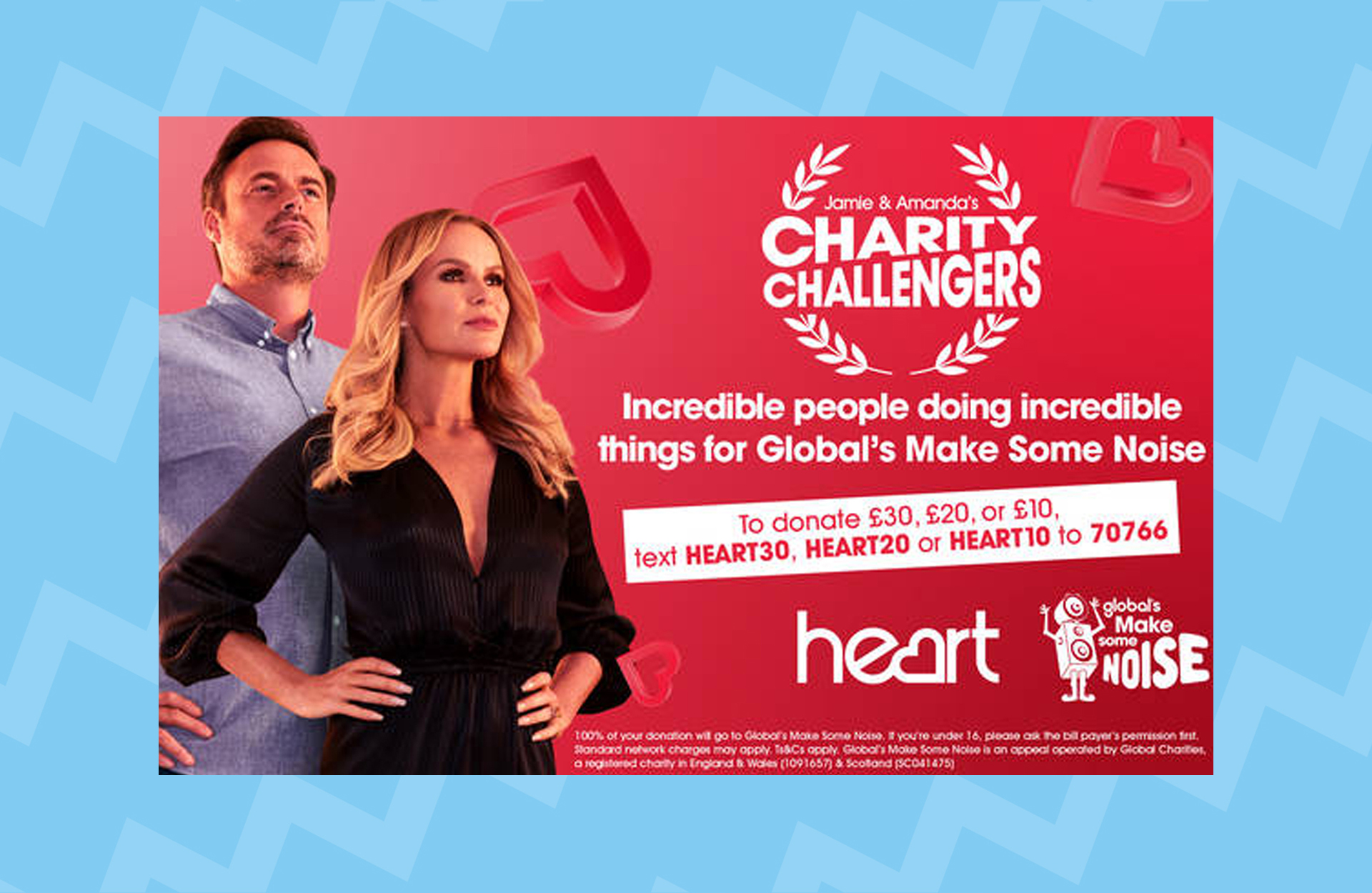 Meet Jamie and Amanda's Charity Challengers