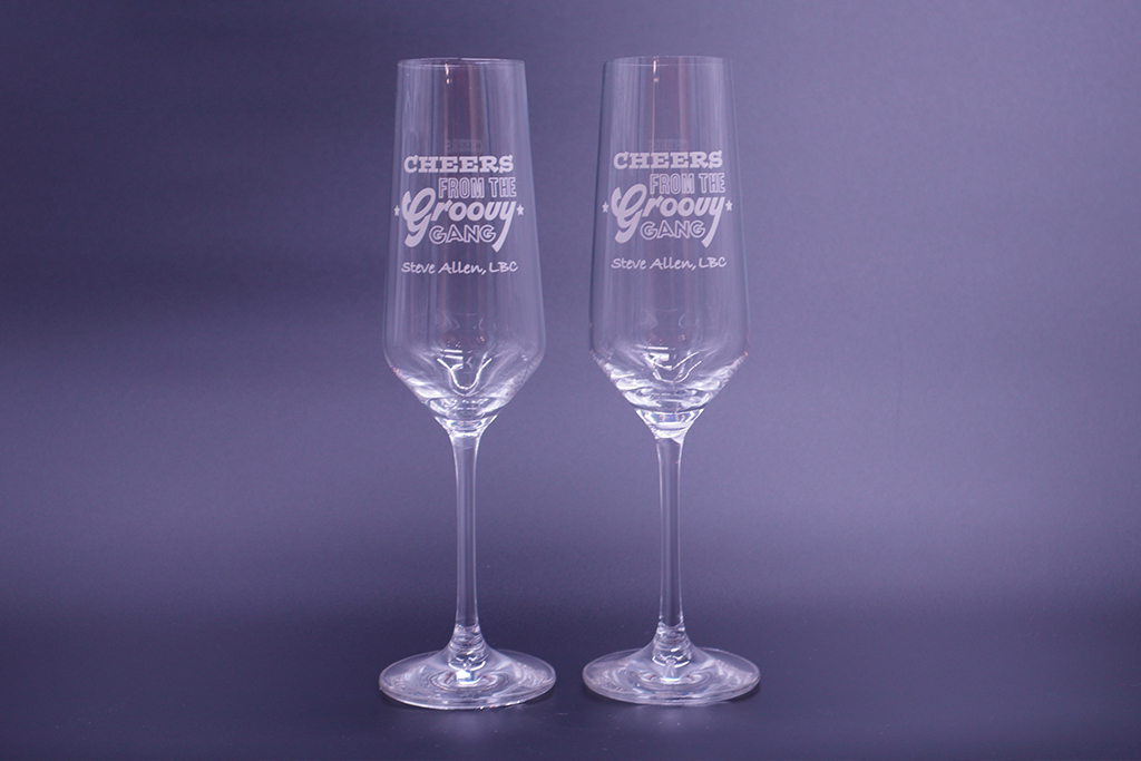 BUY YOUR: Steve Allen limited edition Prosecco Glass