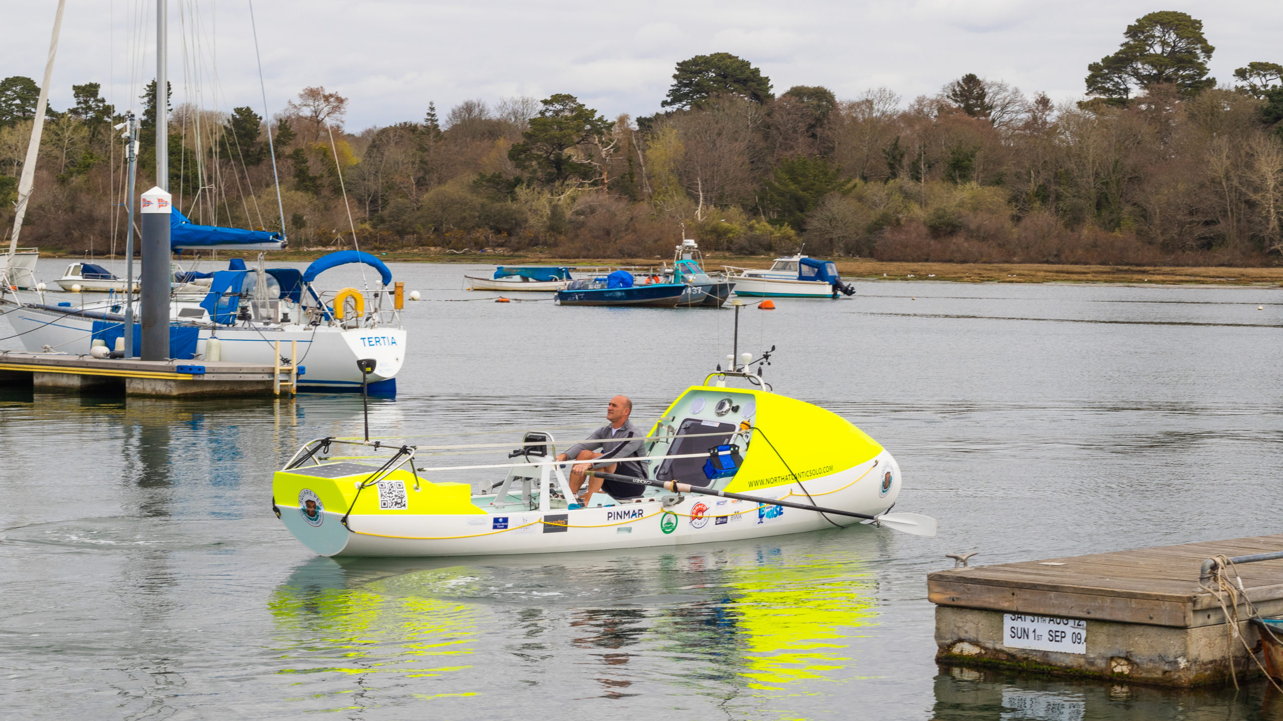 Adventurer Mark Delstanche is rowing and making history