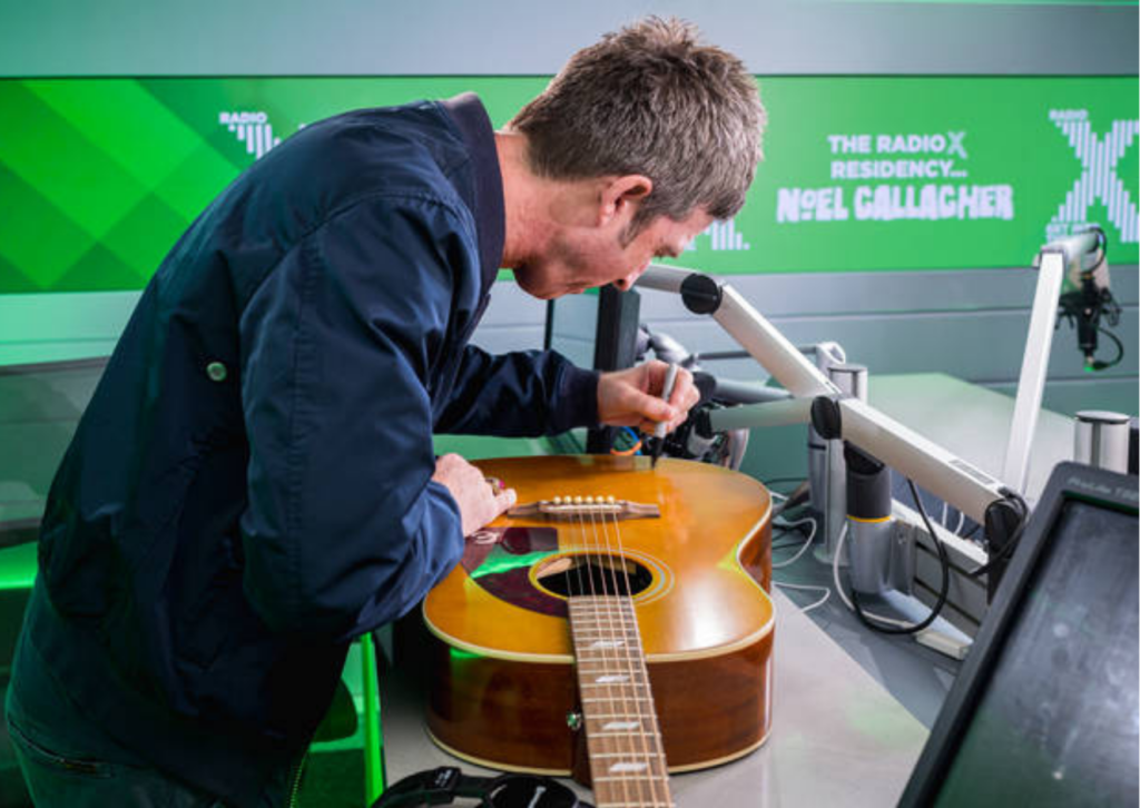 Win an Epiphone Texan guitar signed by Noel Gallagher