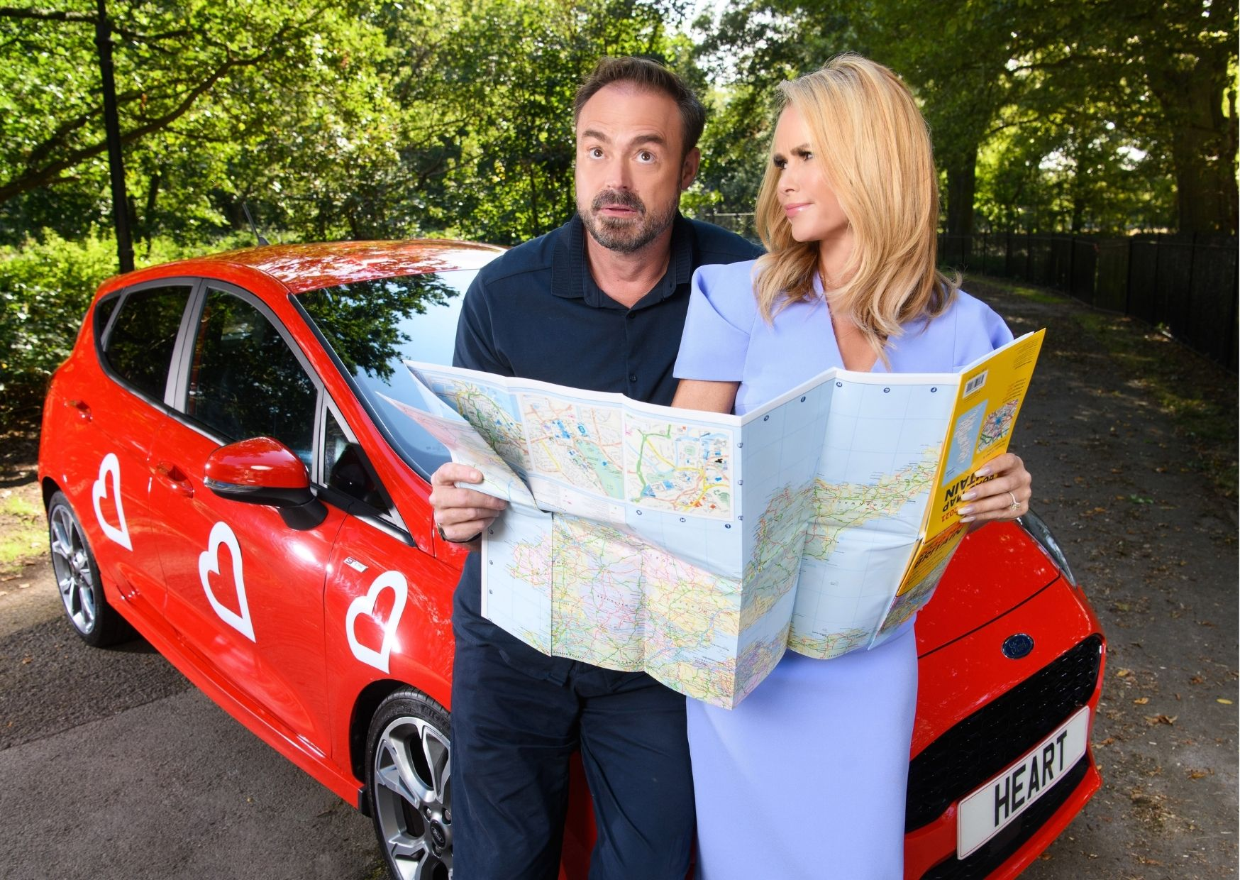 Win a car with Jamie Theakston and Amanda Holden