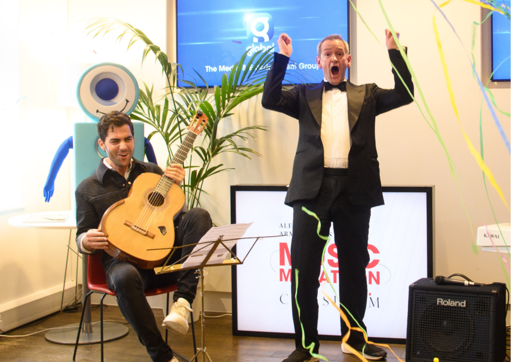 Alexander Armstrong sets world record for singing 24 concerts in 24 hours